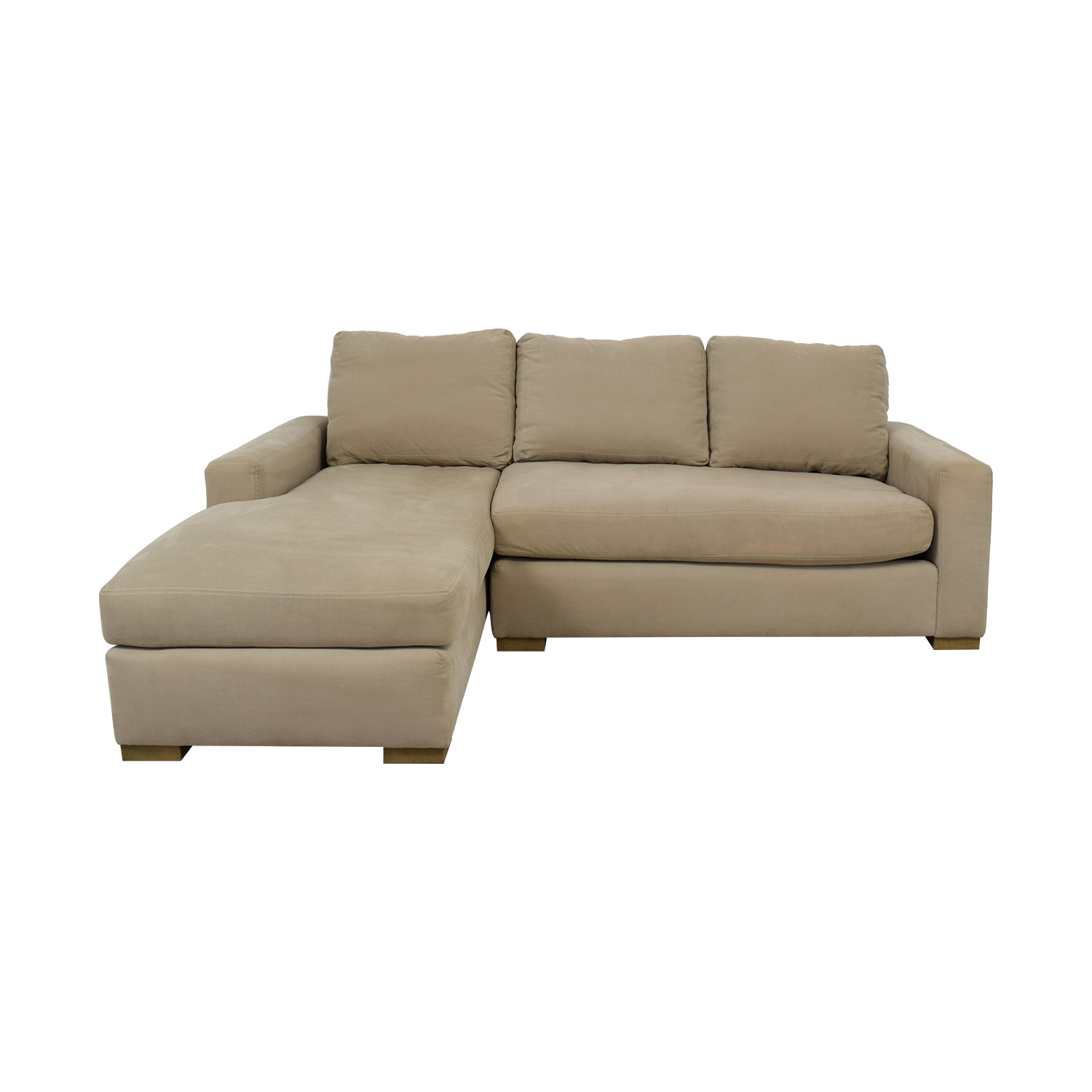 shop Restoration Hardware Beige Petite Chaise Sectional Restoration Hardware Sofas