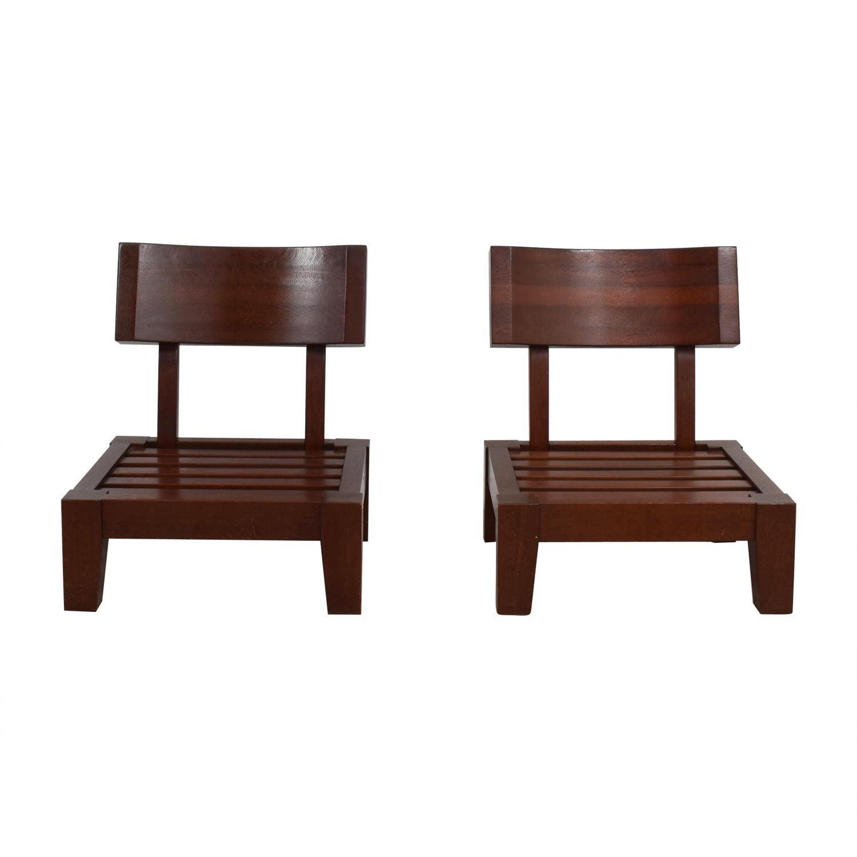 Mahogany Wood Sitting Chairs