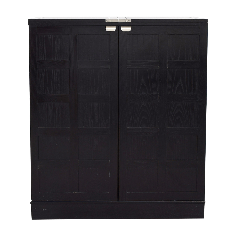 Ordinaire Crate U0026 Barrel Crate U0026 Barrel Black Steamer Bar Cabinet ...
