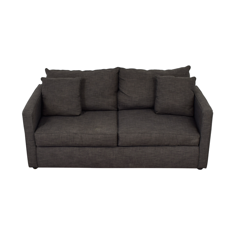 buy Jennifer Furniture Grey Two-Cushion Couch Jennifer Furniture Sofas