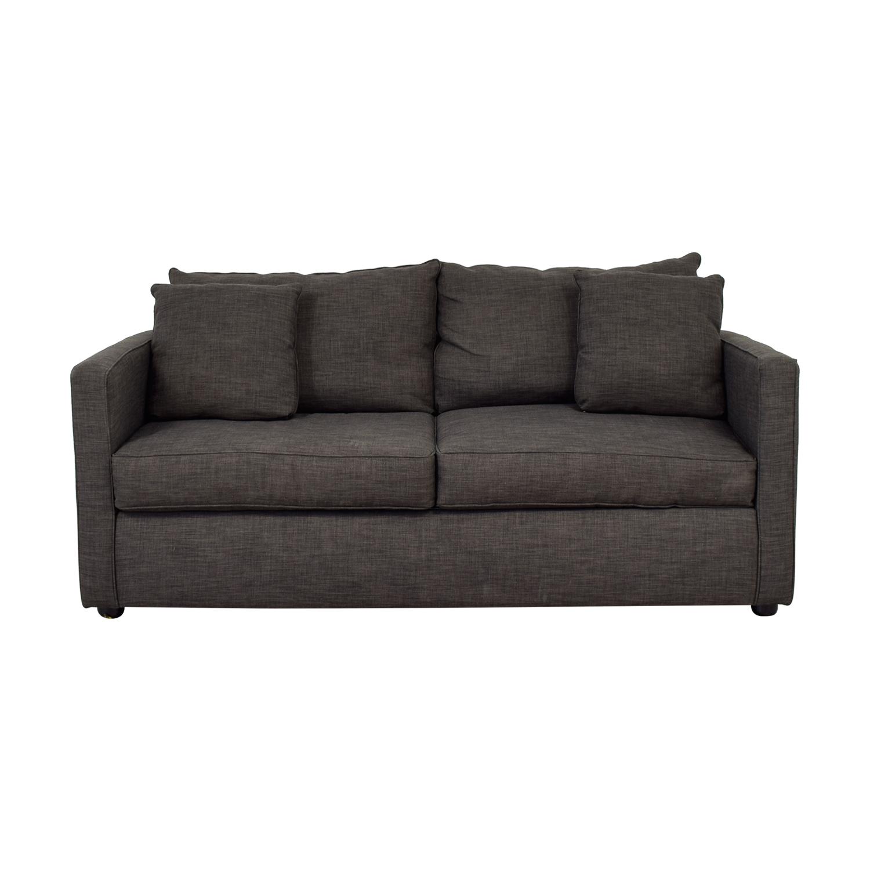 Jennifer Furniture Jennifer Furniture Grey Two-Cushion Couch second hand