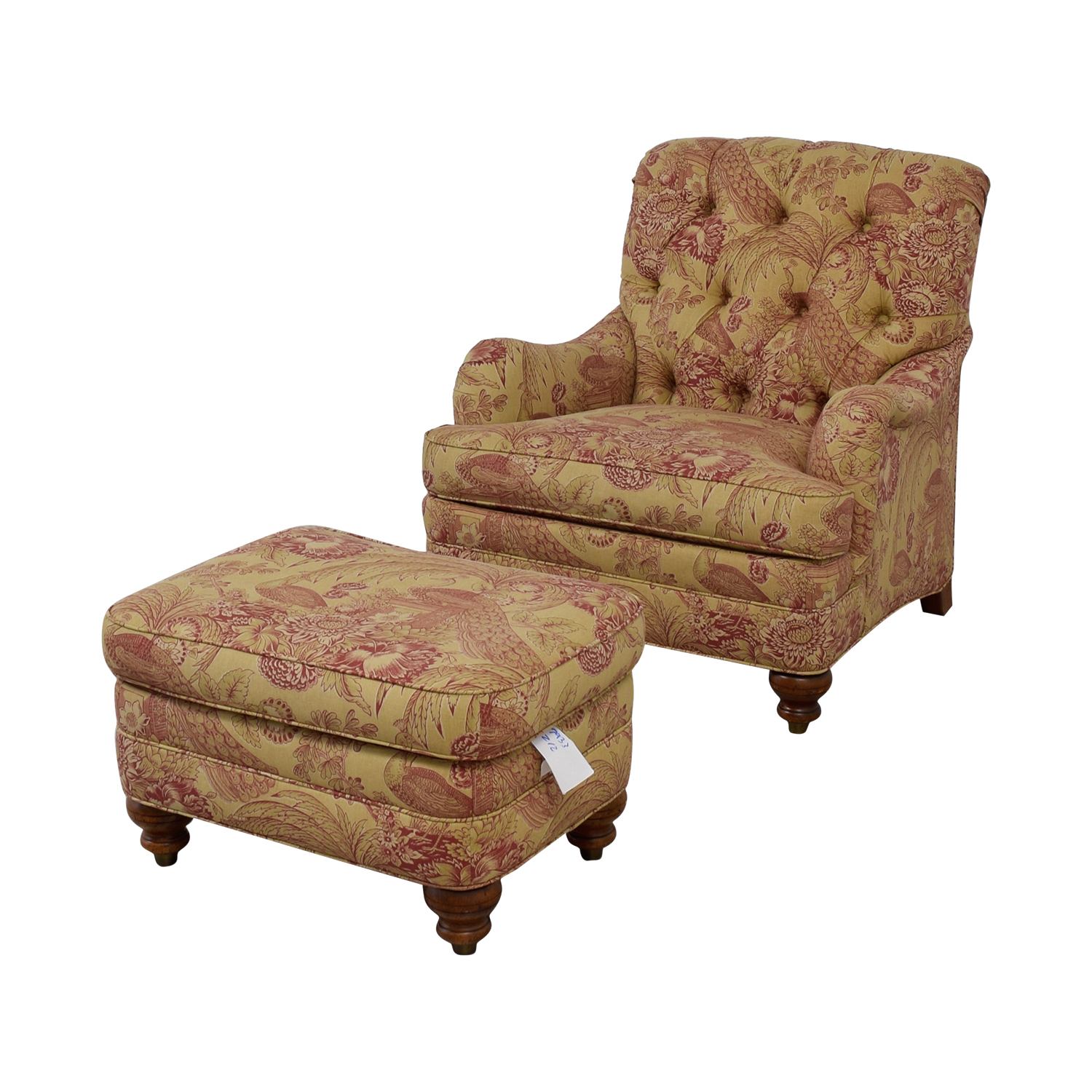 59 Off Ethan Allen Ethan Allen Mercer Beige And Red