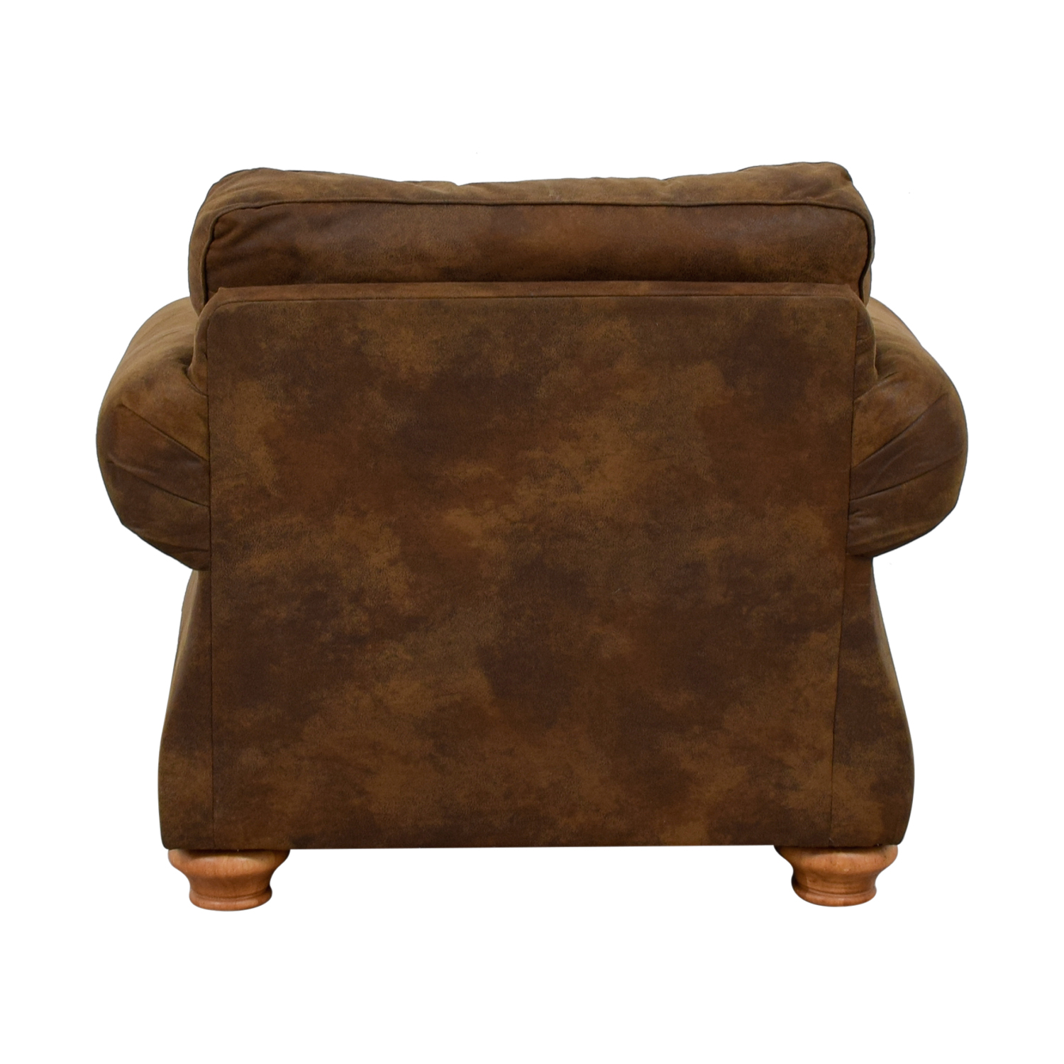 shop Raymour & Flanigan Raymour & Flanigan Brown Suede Lounge Chair online