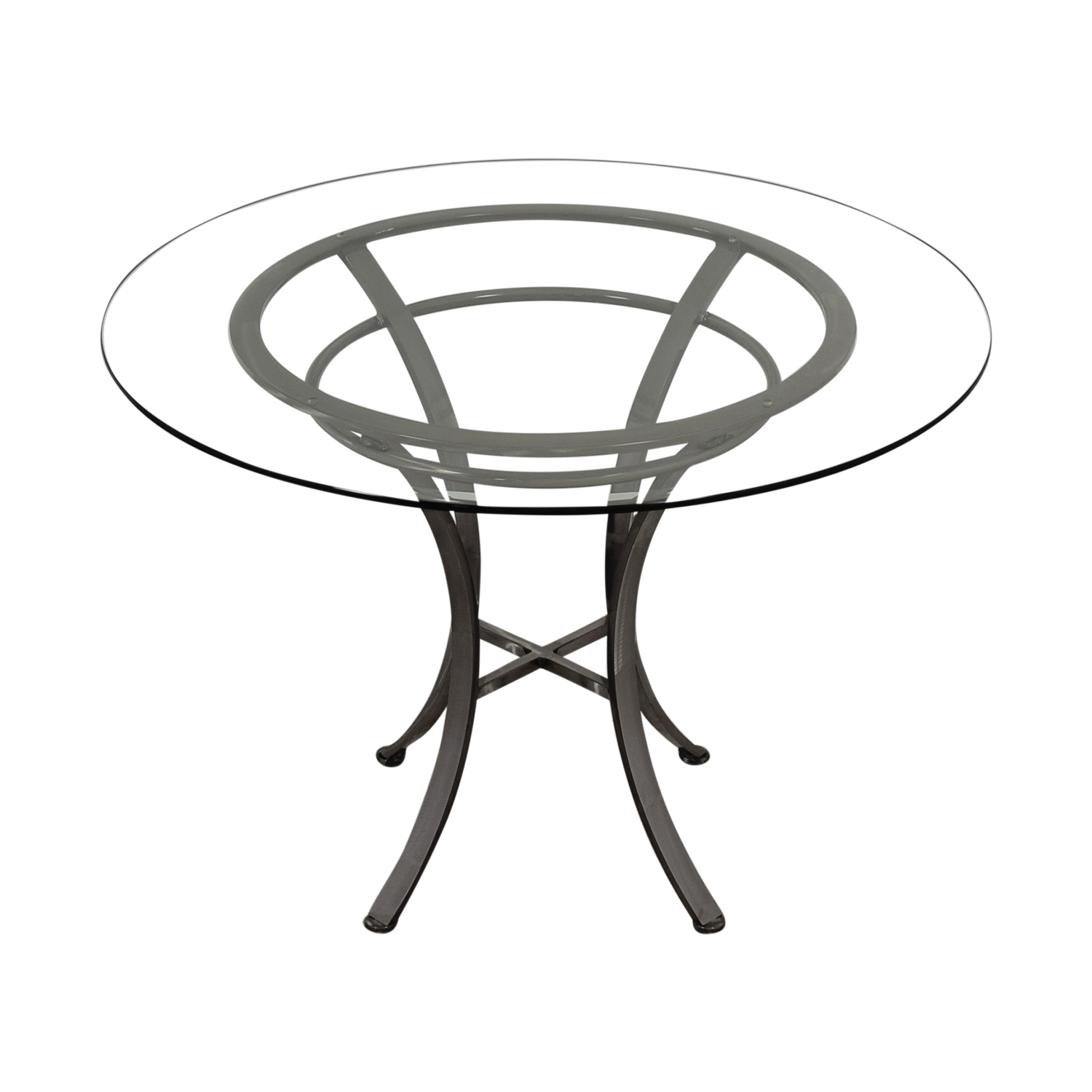 Johnston Casuals Glass and Pewter Table Johnston Casuals