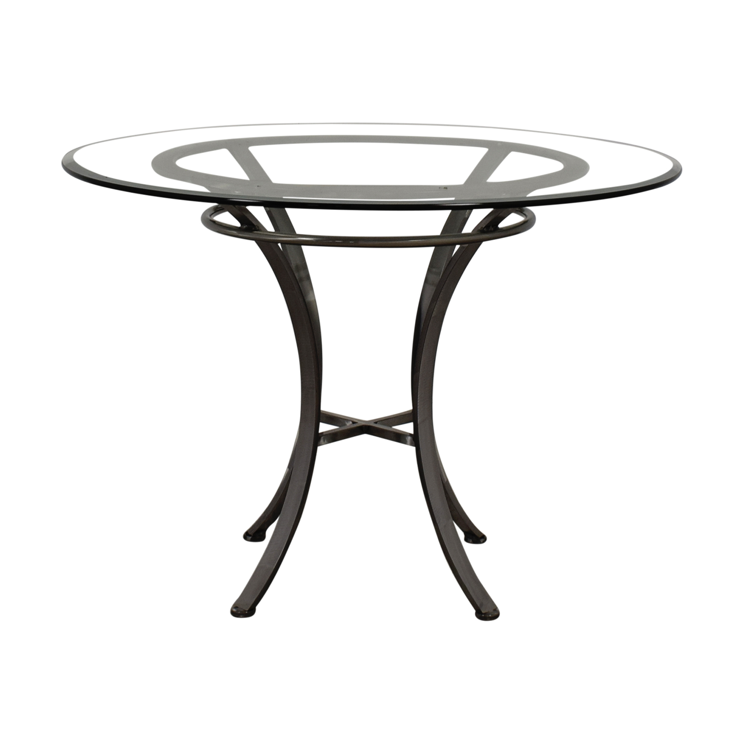 Johnston Casuals Johnston Casuals Glass and Pewter Table nj