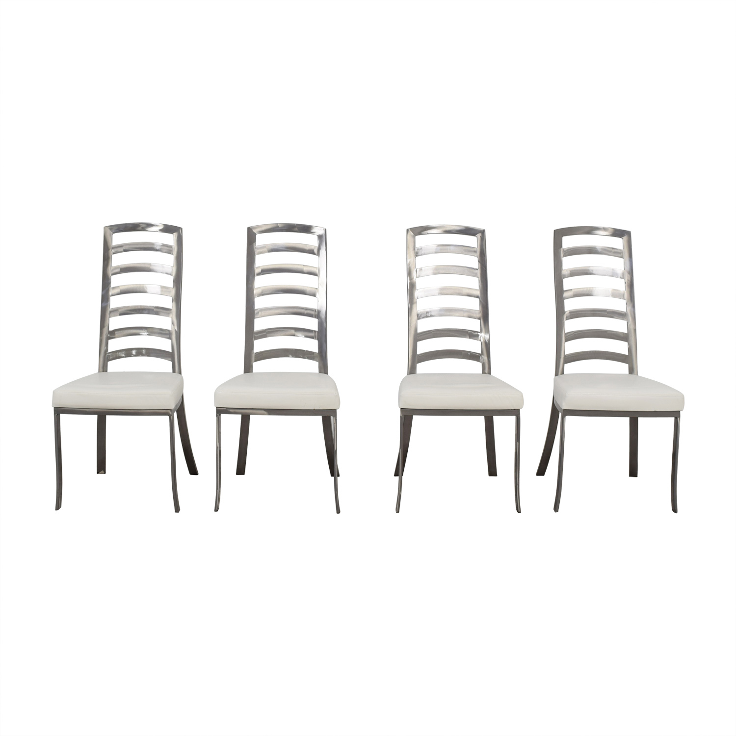 Johnston Casuals Johnston Casuals White and Pewter Dining Chairs Dining Chairs