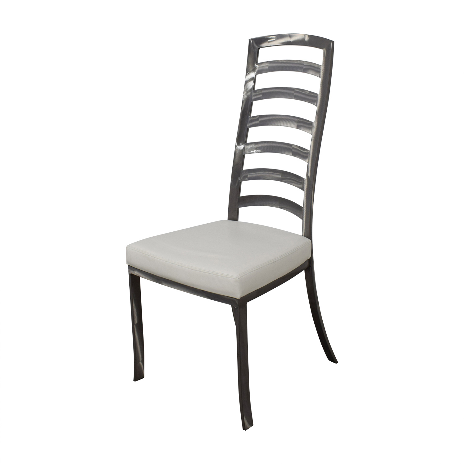 Johnston Casuals White And Pewter Dining Chairs Second Hand