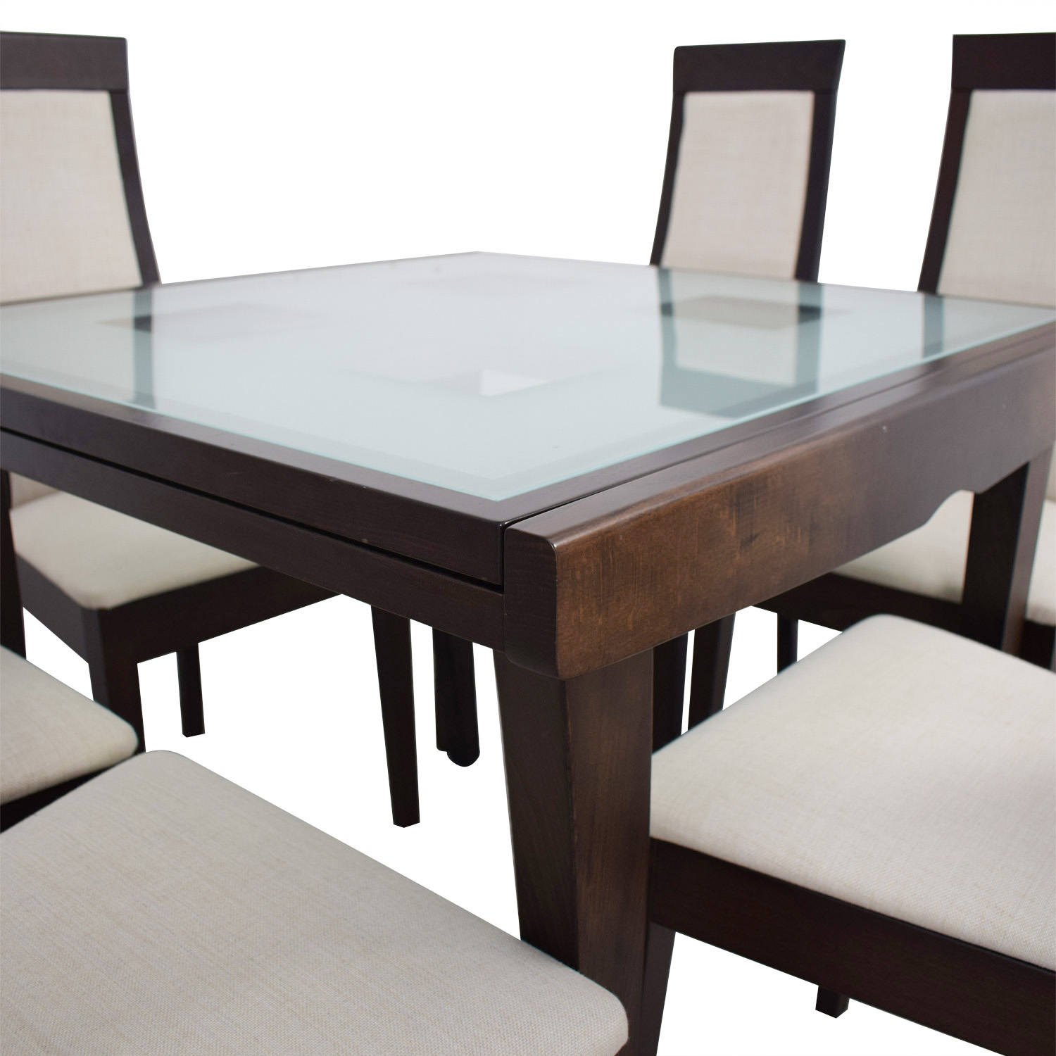 Picture of: 71 Off Calligaris Calligaris Extendable Glass And Wood Dining Set Tables