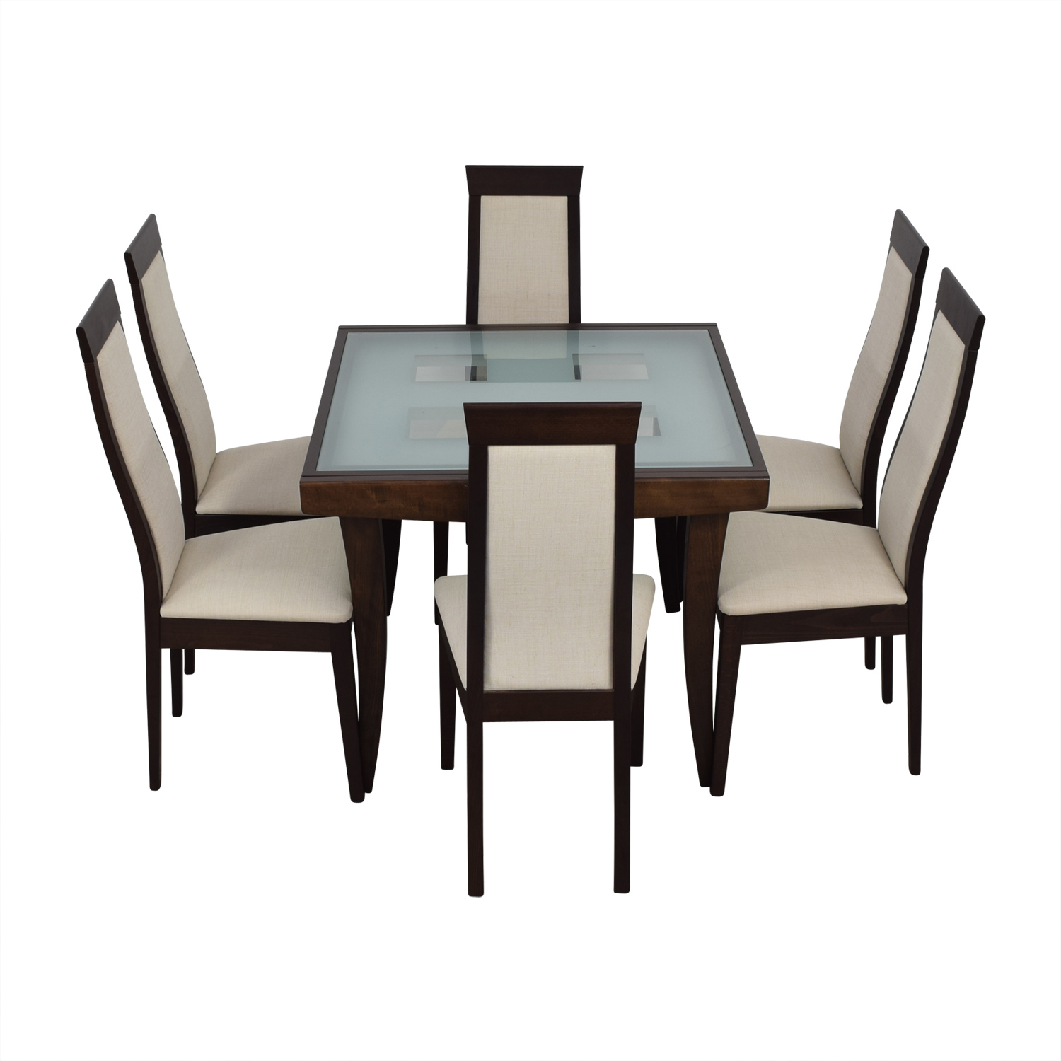 Calligaris Calligaris Extendable Glass And Wood Dining Set Nyc