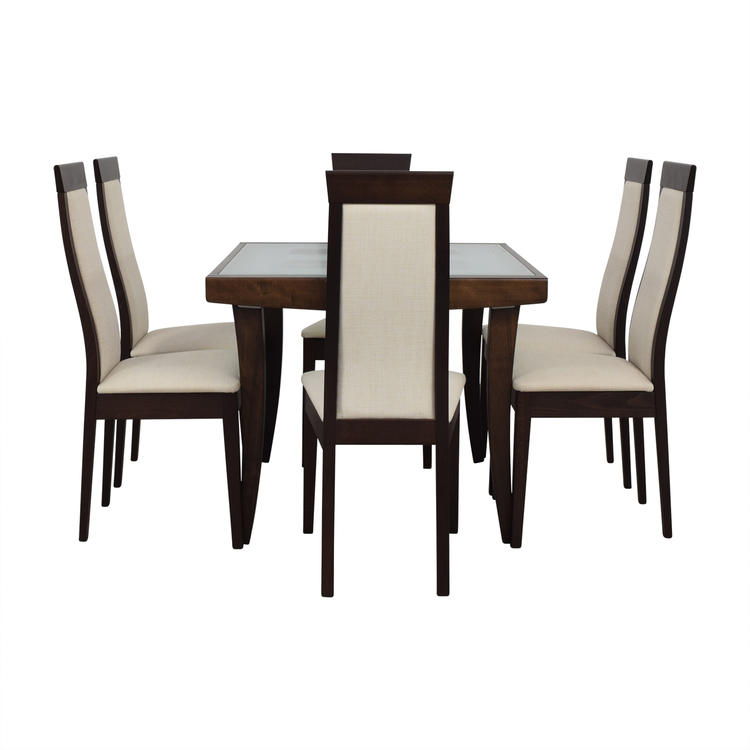 Calligaris Extendable Glass and Wood Dining Set sale