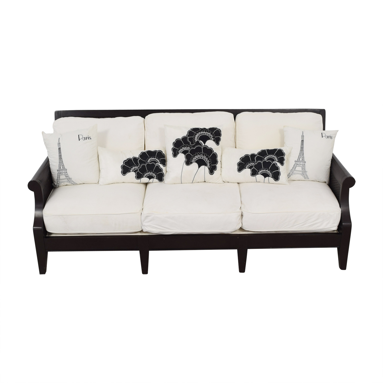 Bloomingdale's Bloomingdale's White Three-Cushion Sofa price