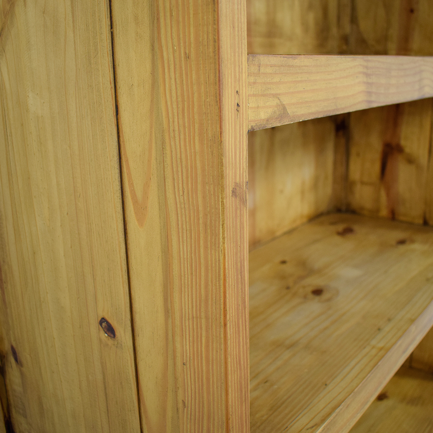 43 Off Natural Rustic Wood Bookshelf With Two Drawers Storage