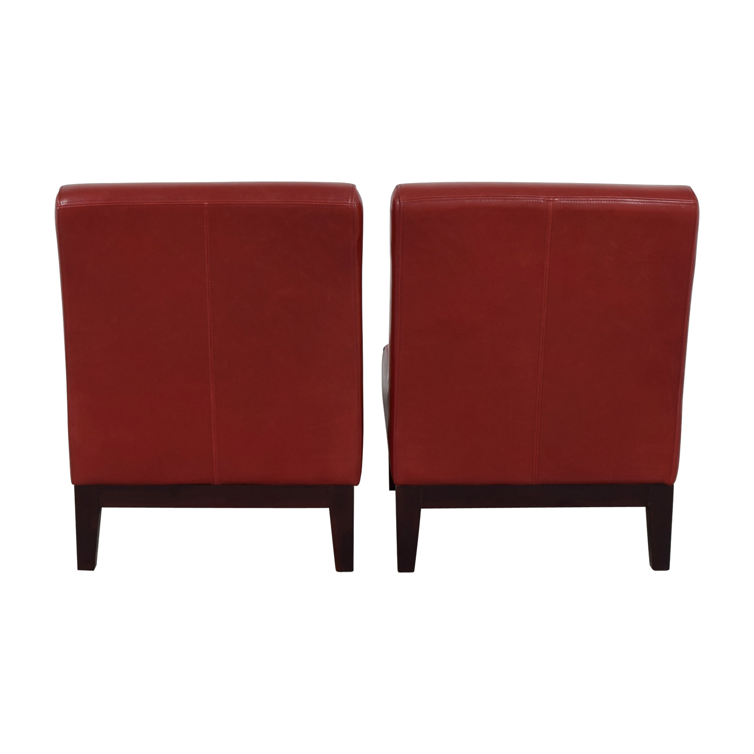 buy  Red Leather Accent Chairs online