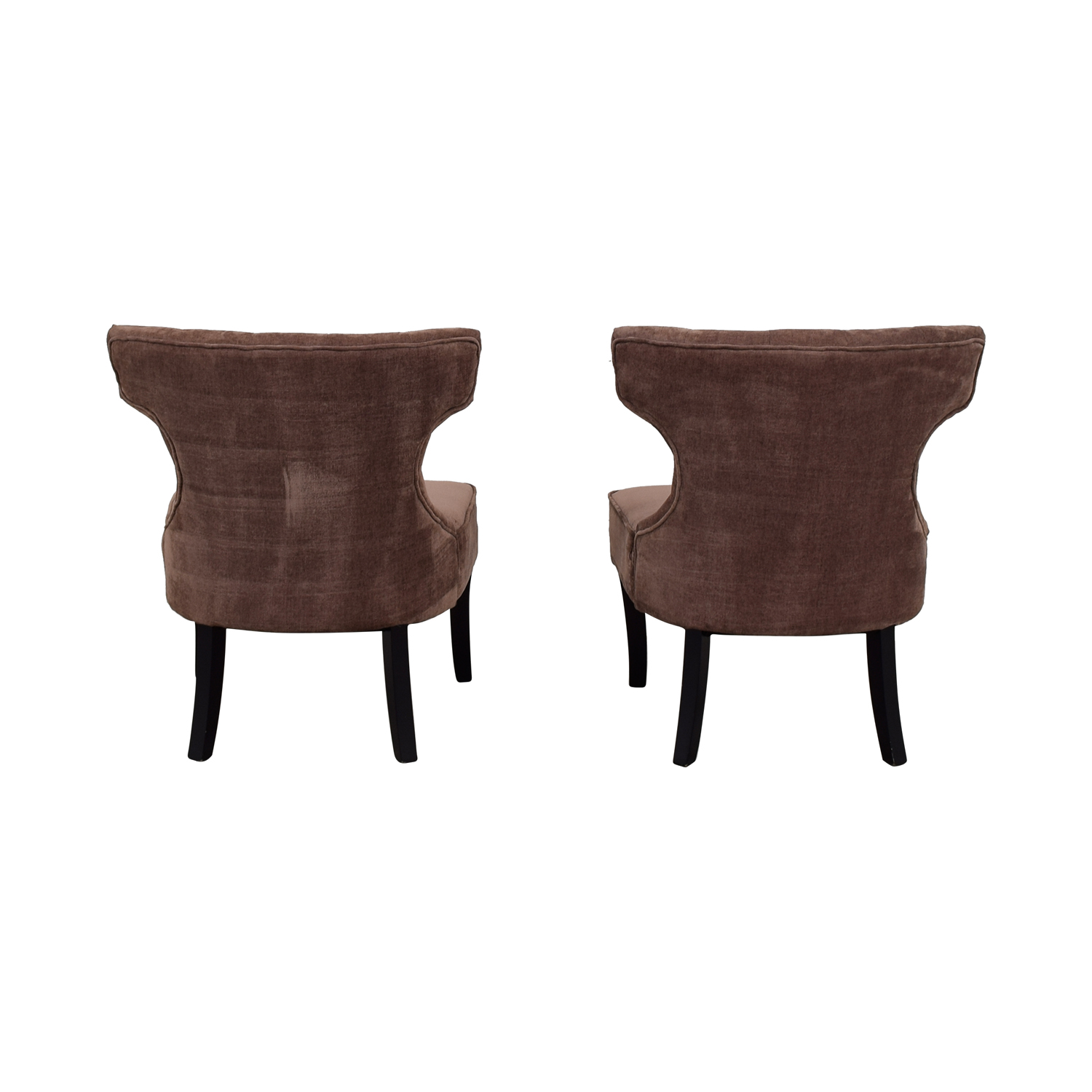 Lilac Tufted Upholstered Accent Chairs