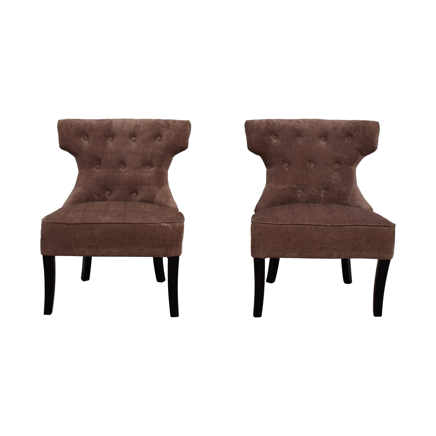 Lilac Tufted Upholstered Accent Chairs / Accent Chairs