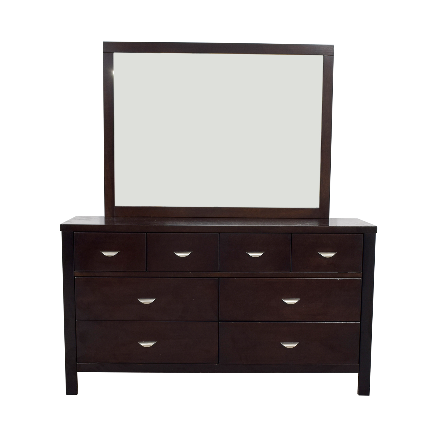 Ligna Six-Drawer Dresser with Mirror Ligna