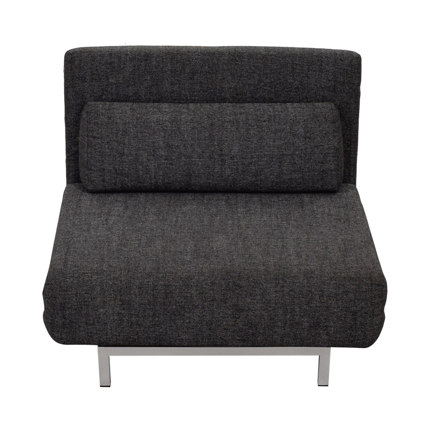 buy I Do  Charcoal Gray Tweed Convertible Accent Chair I Do Sofas