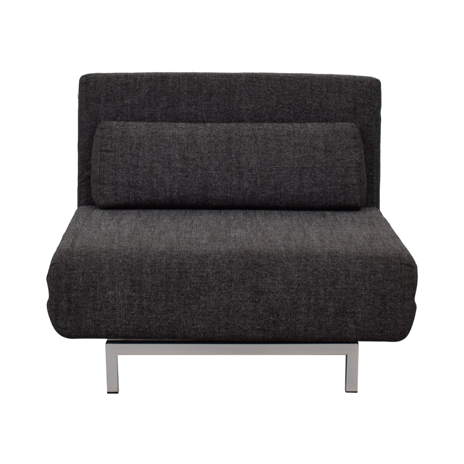 I Do I Do  Charcoal Gray Tweed Convertible Accent Chair on sale