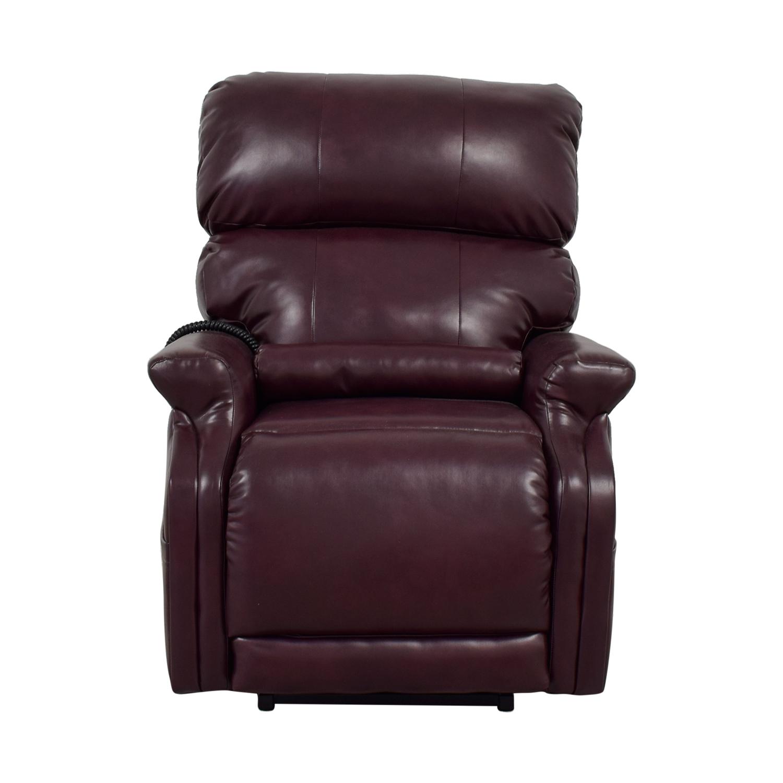 buy First Street Burgundy Leather  Massage Recliner First Street Sofas