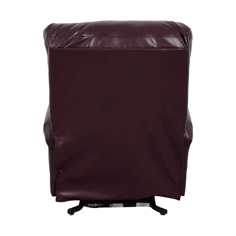 buy First Street Burgundy Leather  Massage Recliner First Street