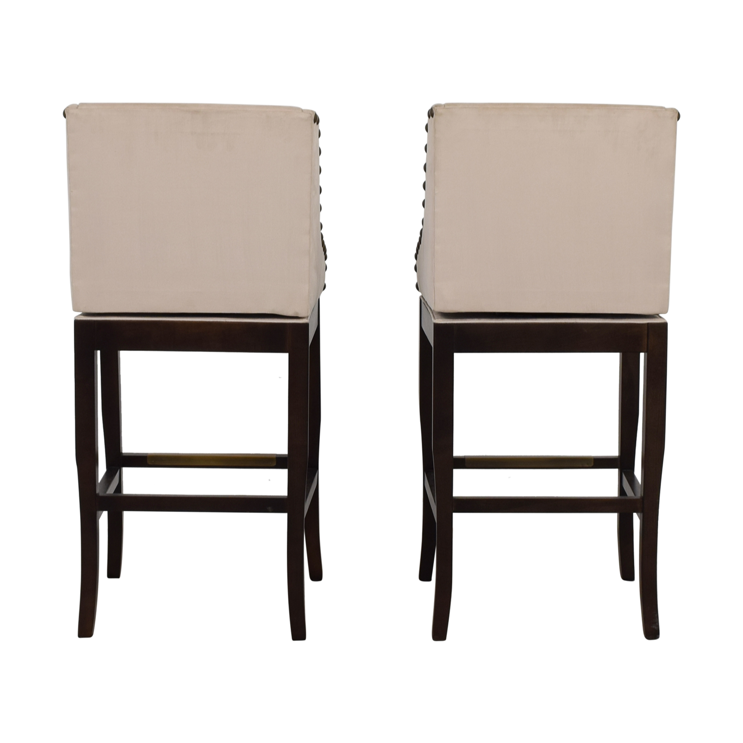 buy Ballard Designs Marcello Beige Nailhead Bar Stools Ballard Designs Chairs