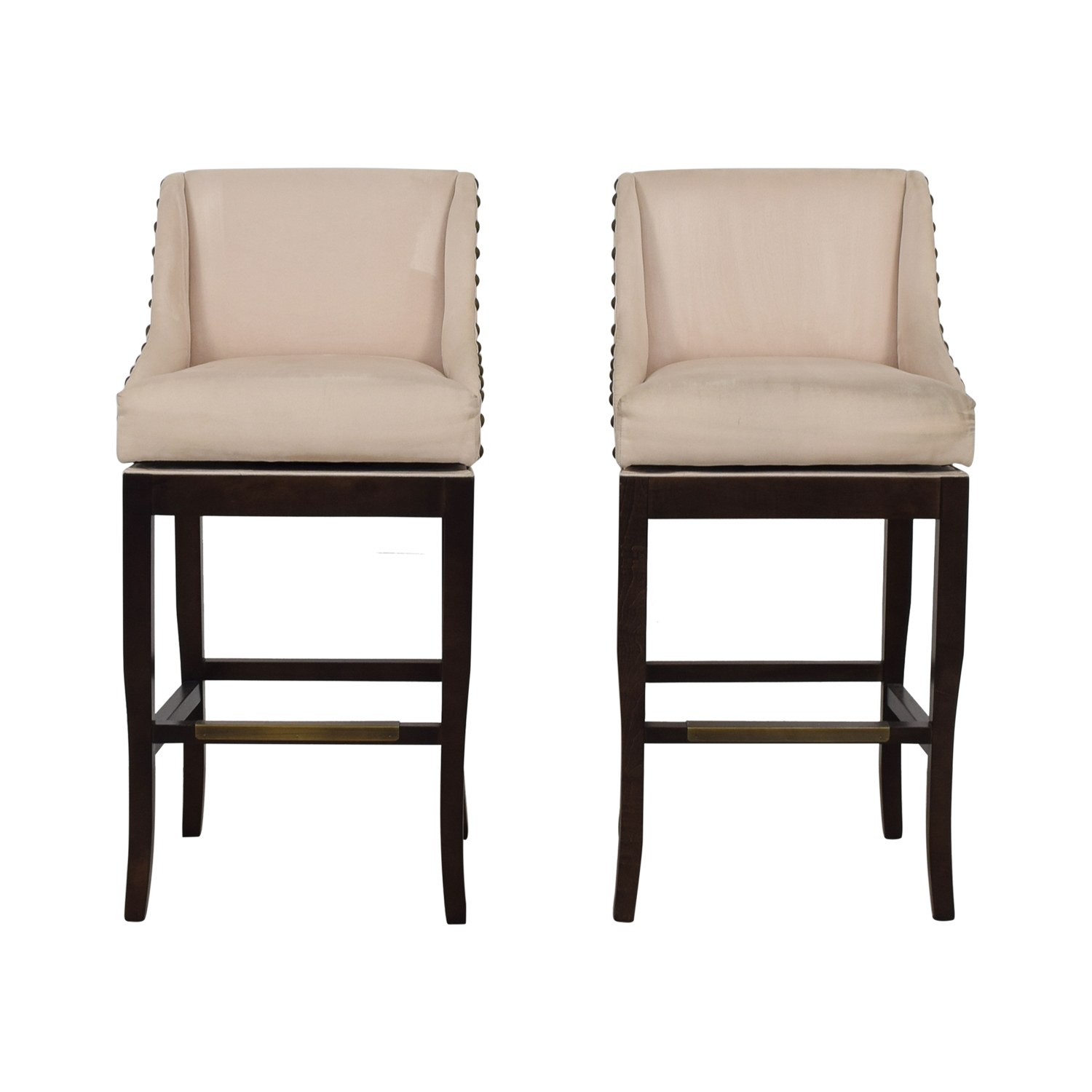 Ballard Designs Ballard Designs Marcello Beige Nailhead Bar Stools coupon