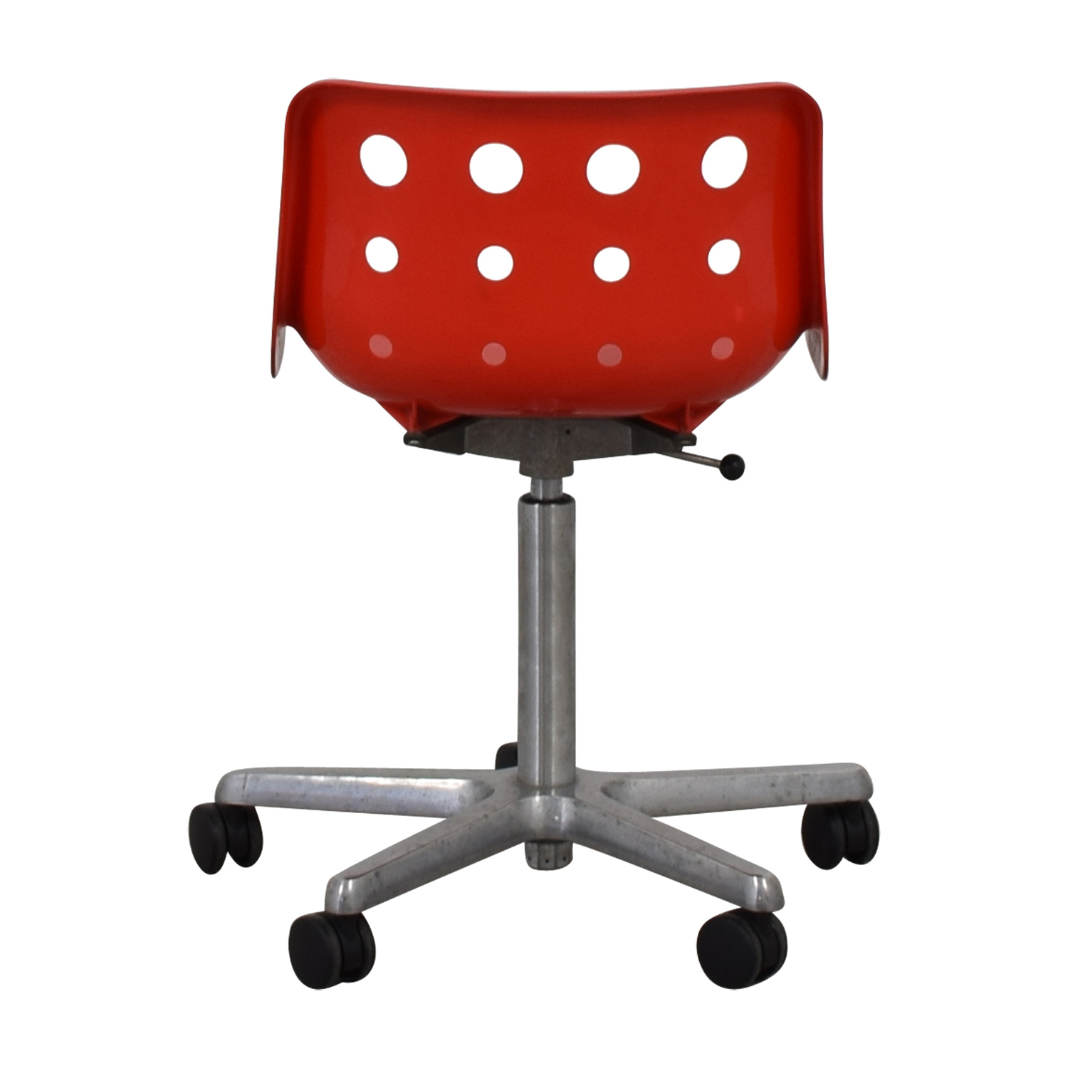 Robin Day 1973 Polo 5 Star Red Chair on Castors / Chairs