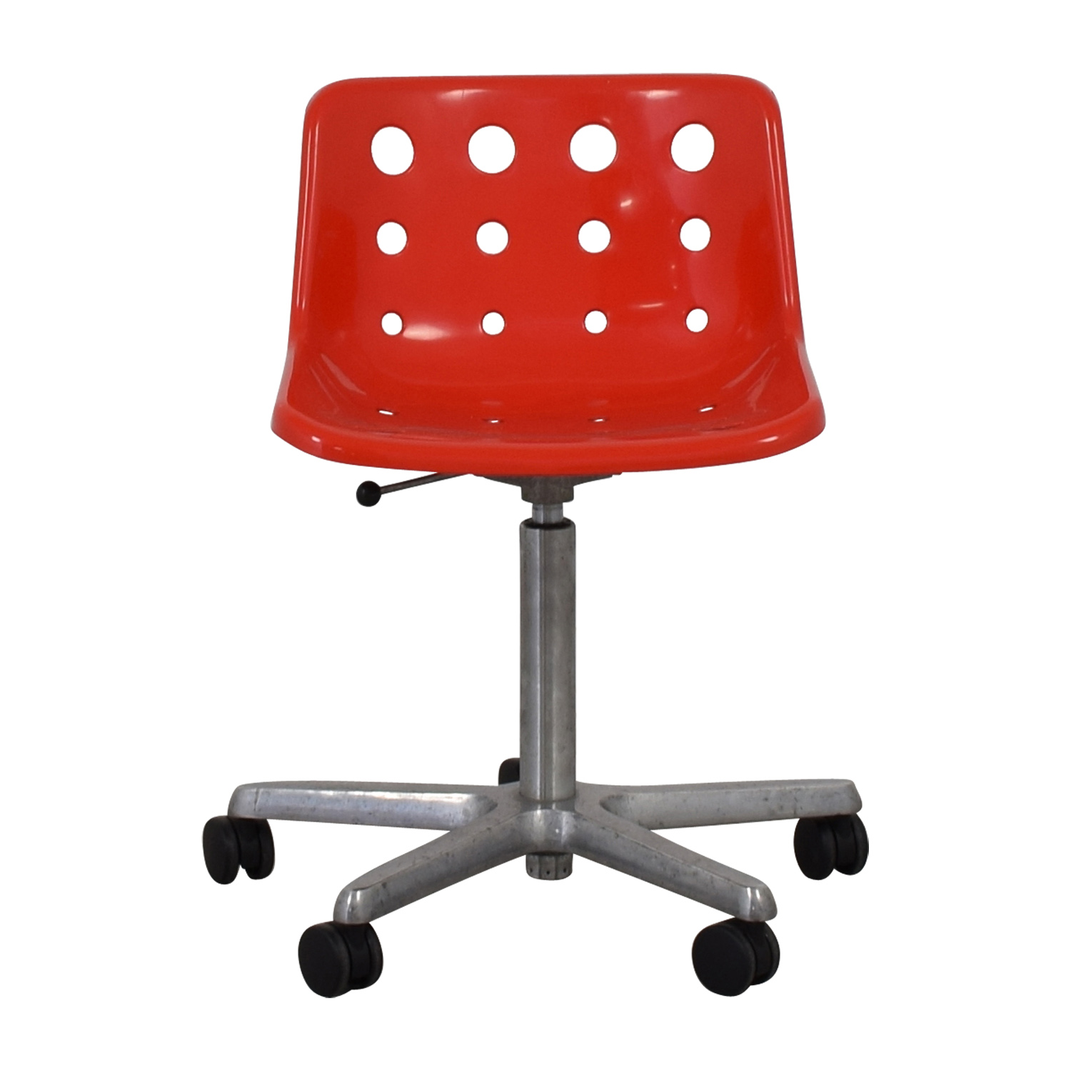 Robin Day Robin Day 1973 Polo 5 Star Red Chair on Castors second hand