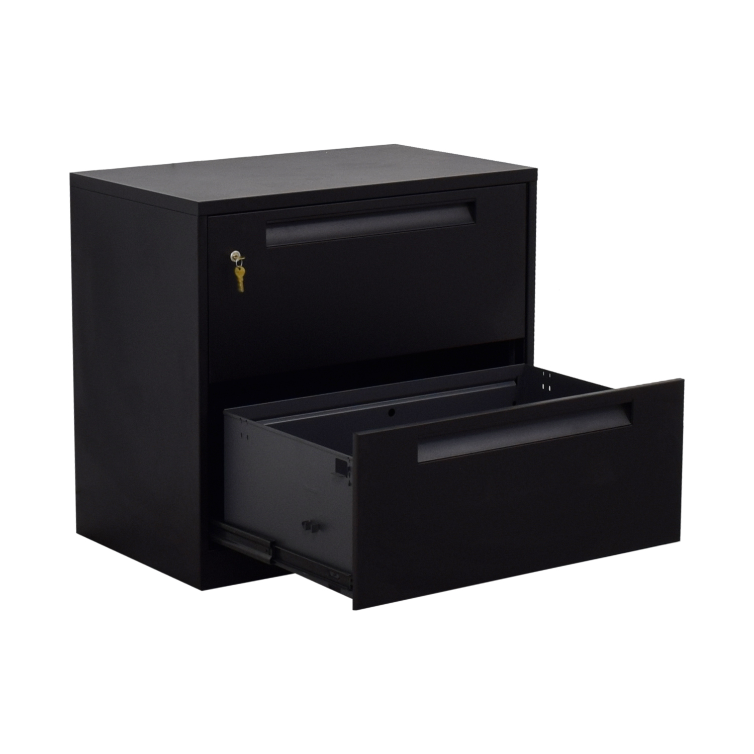shop Steelcase Black Lateral Two-Drawer File Cabinet Steelcase