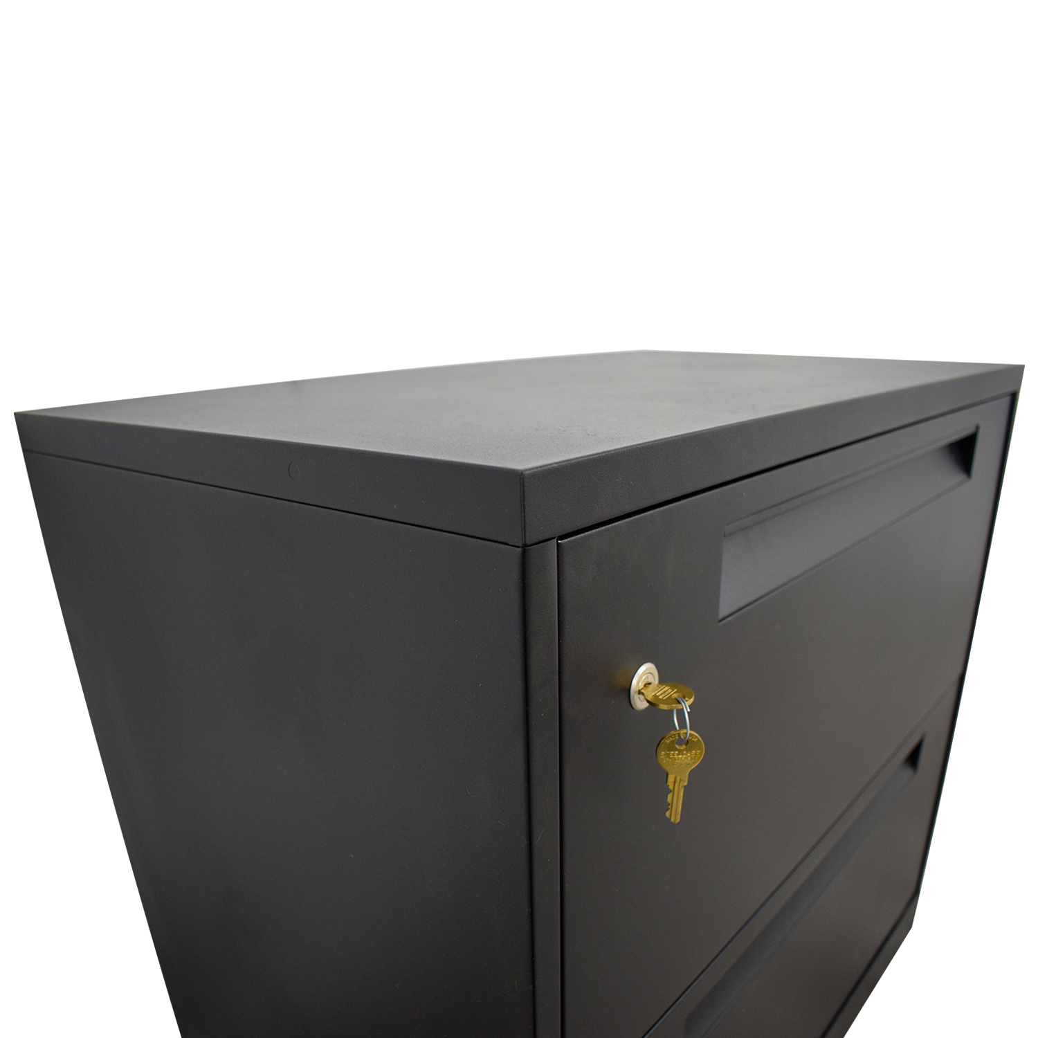 Steelcase Steelcase Black Lateral Two-Drawer File Cabinet nyc