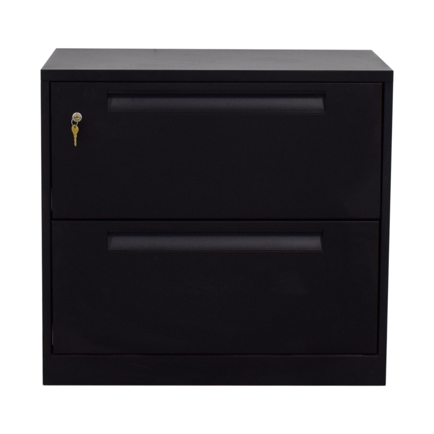 Steelcase Black Lateral Two-Drawer File Cabinet / Filing & Bins