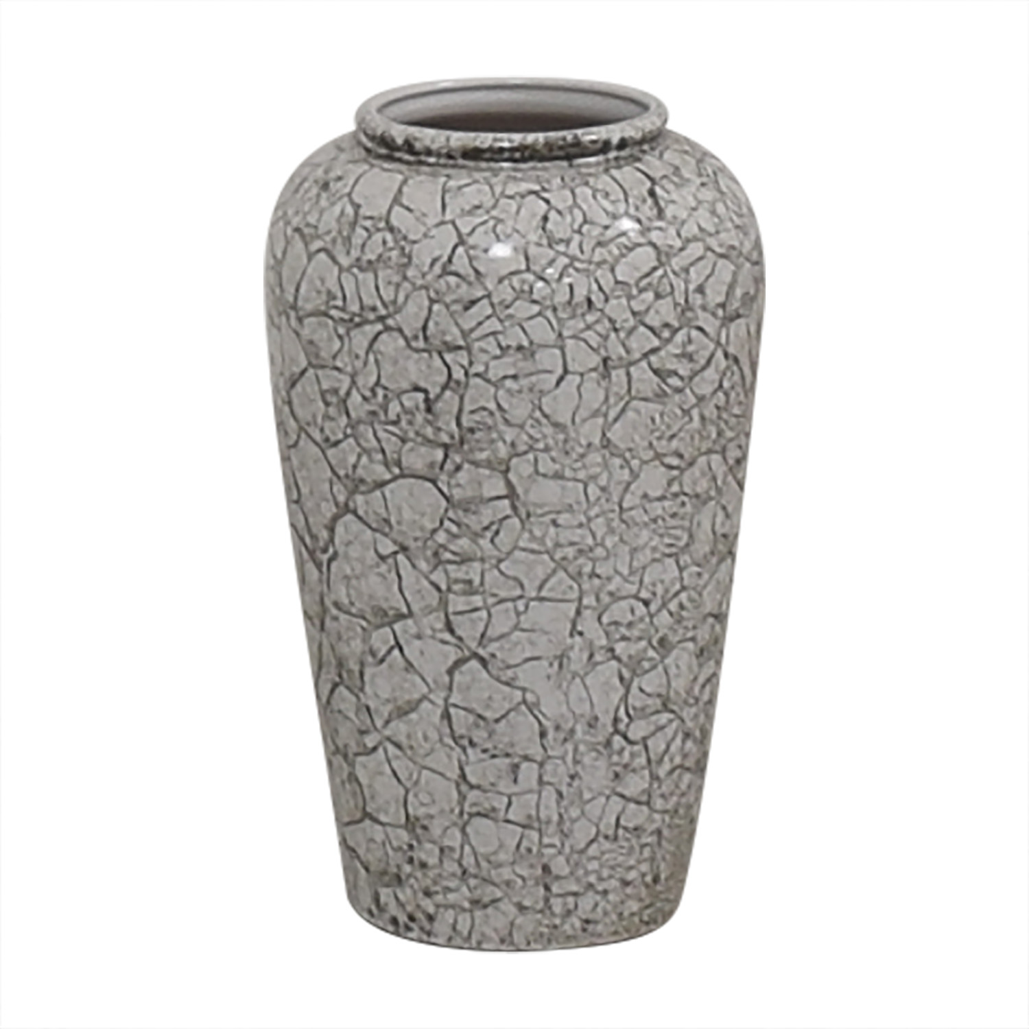 German White and Grey Crackled Effect Vase coupon
