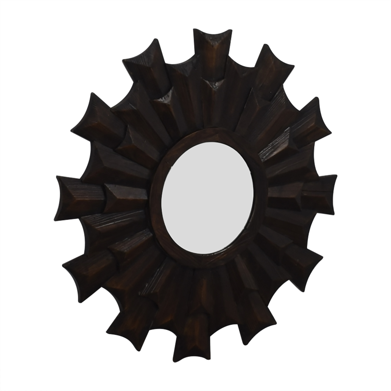 Homegoods Wood Starburst Wall Mirror for sale