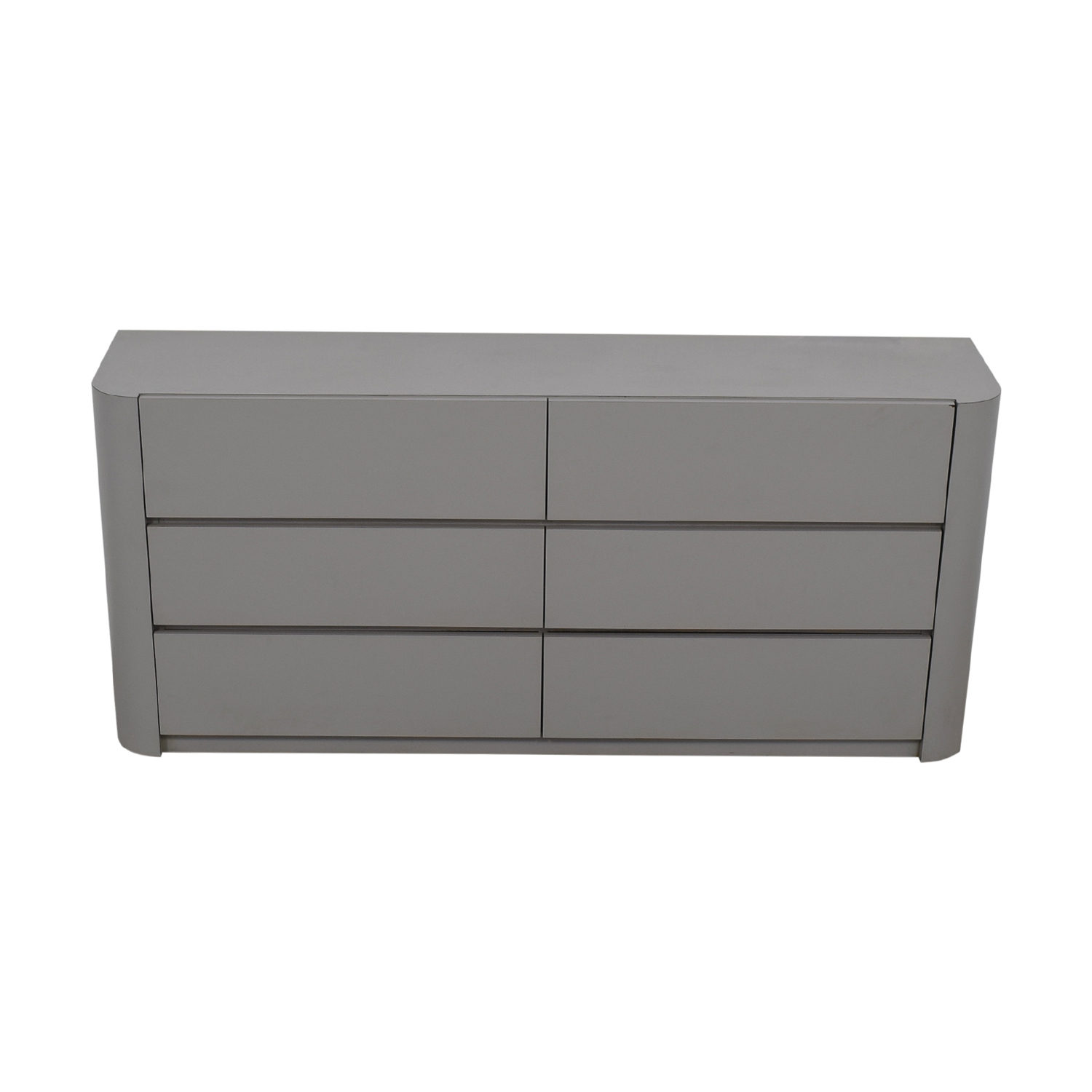 buy Grey Laminate Six-Drawer Dresser  Storage