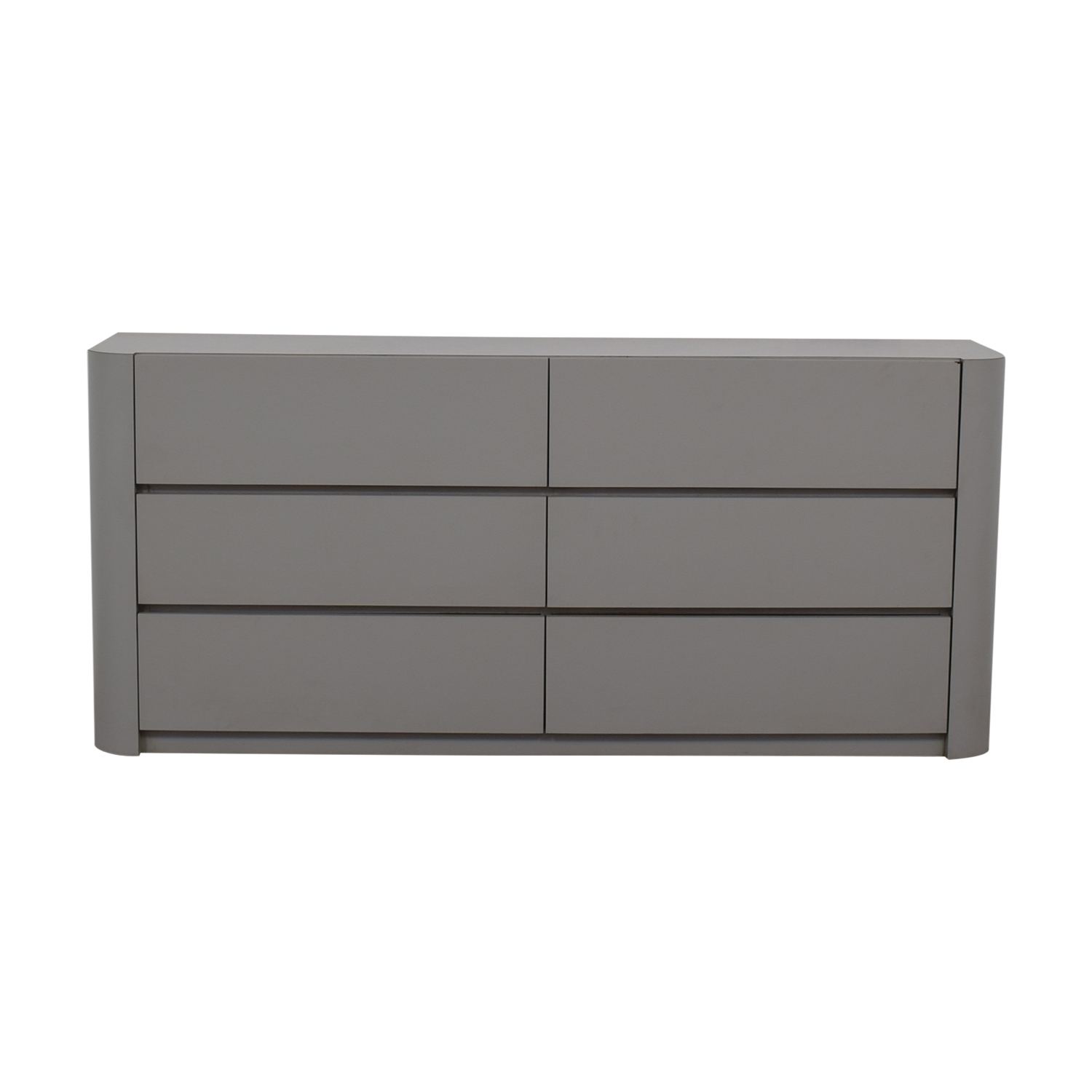 Grey Laminate Six-Drawer Dresser nyc