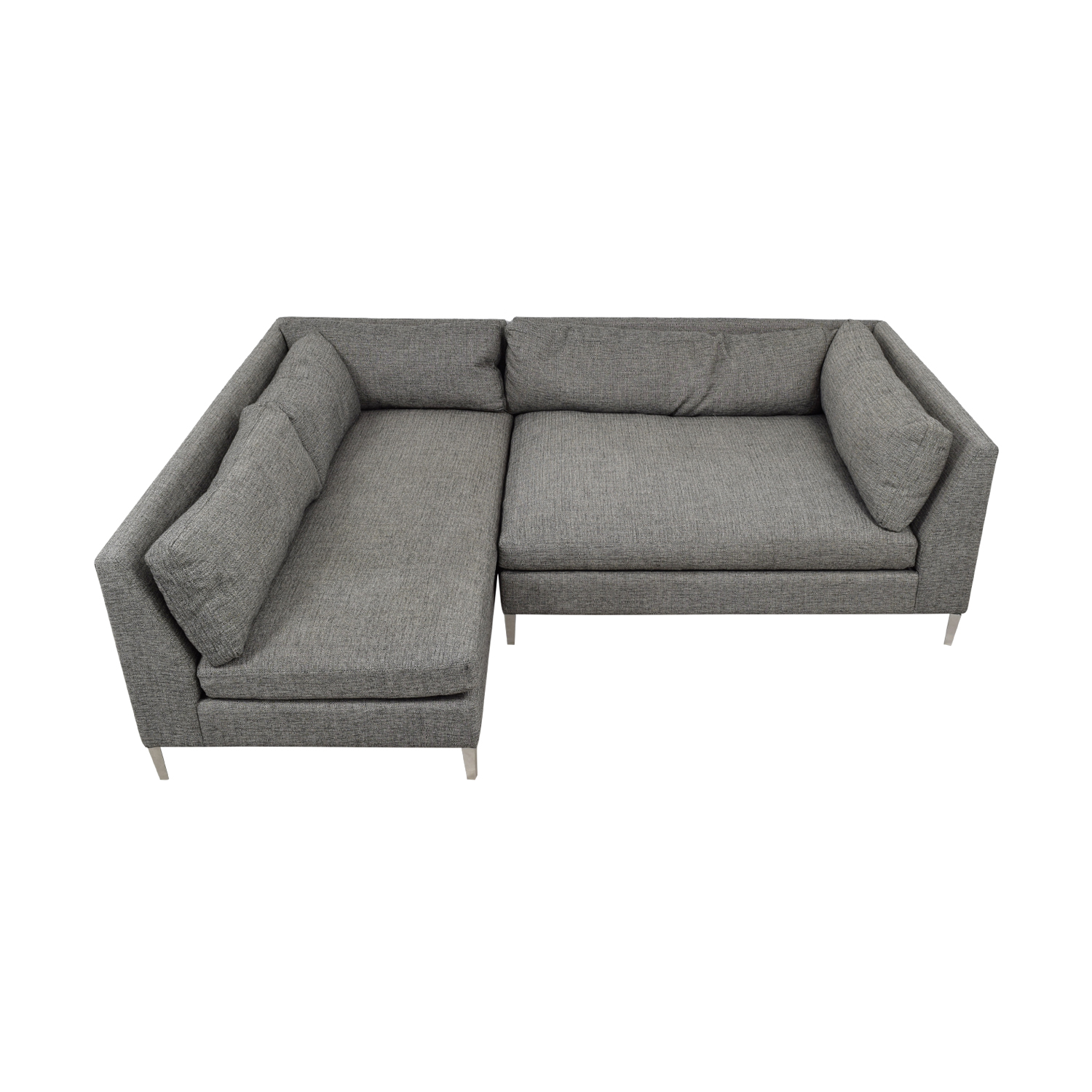 shop CB2 Decker Grey Two Piece Sectional Sofa CB2 Sofas