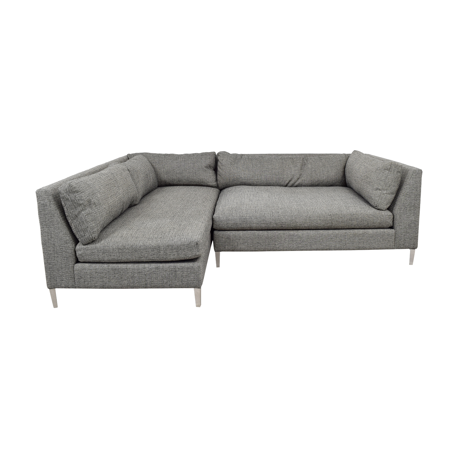 42 Off Cb2 Decker Grey Two Piece Sectional Sofa Sofas