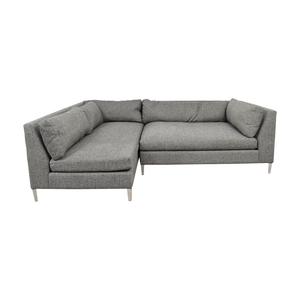 CB2 CB2 Decker Grey Two Piece Sectional Sofa nj
