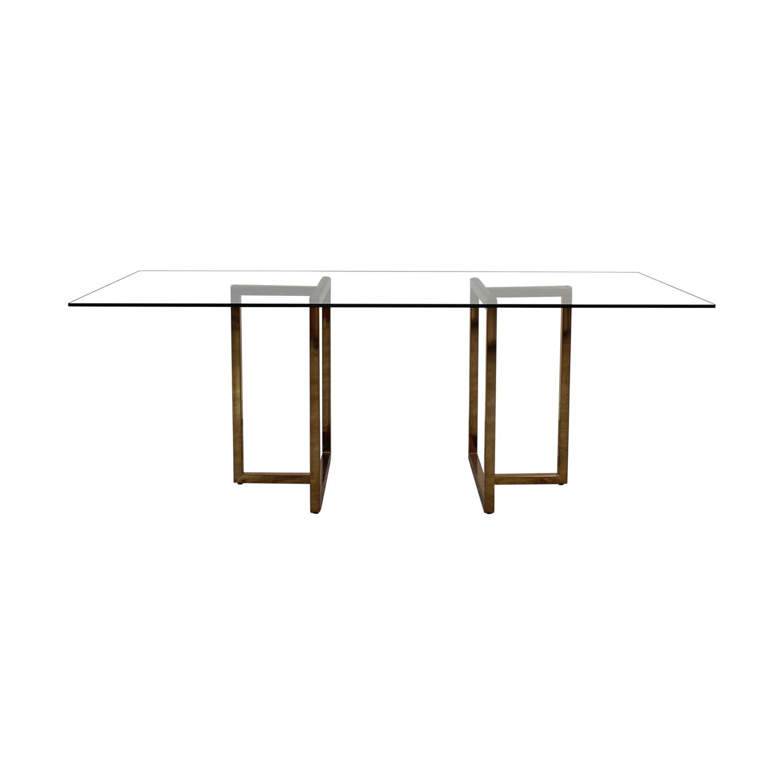 Superb 68 Off Cb2 Cb2 Silverado Dining Table Tables Creativecarmelina Interior Chair Design Creativecarmelinacom