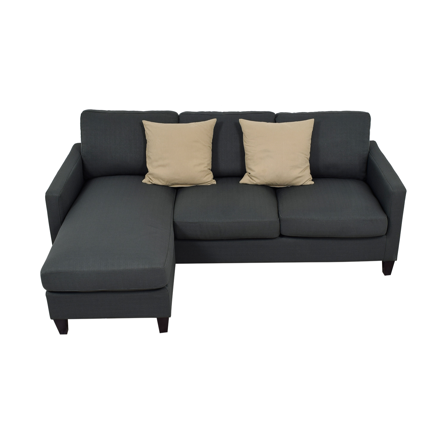 buy World Market Grey Chaise Sectional World Market Sectionals