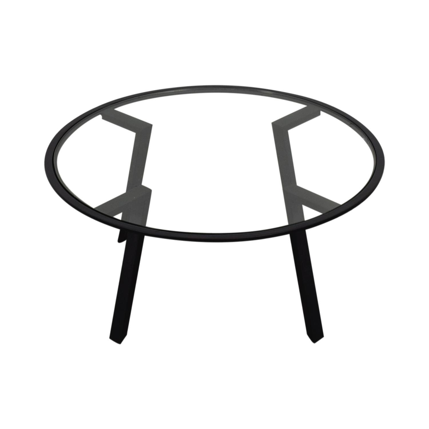 HomeGoods HomeGoods Round Glass Coffee Table dimensions