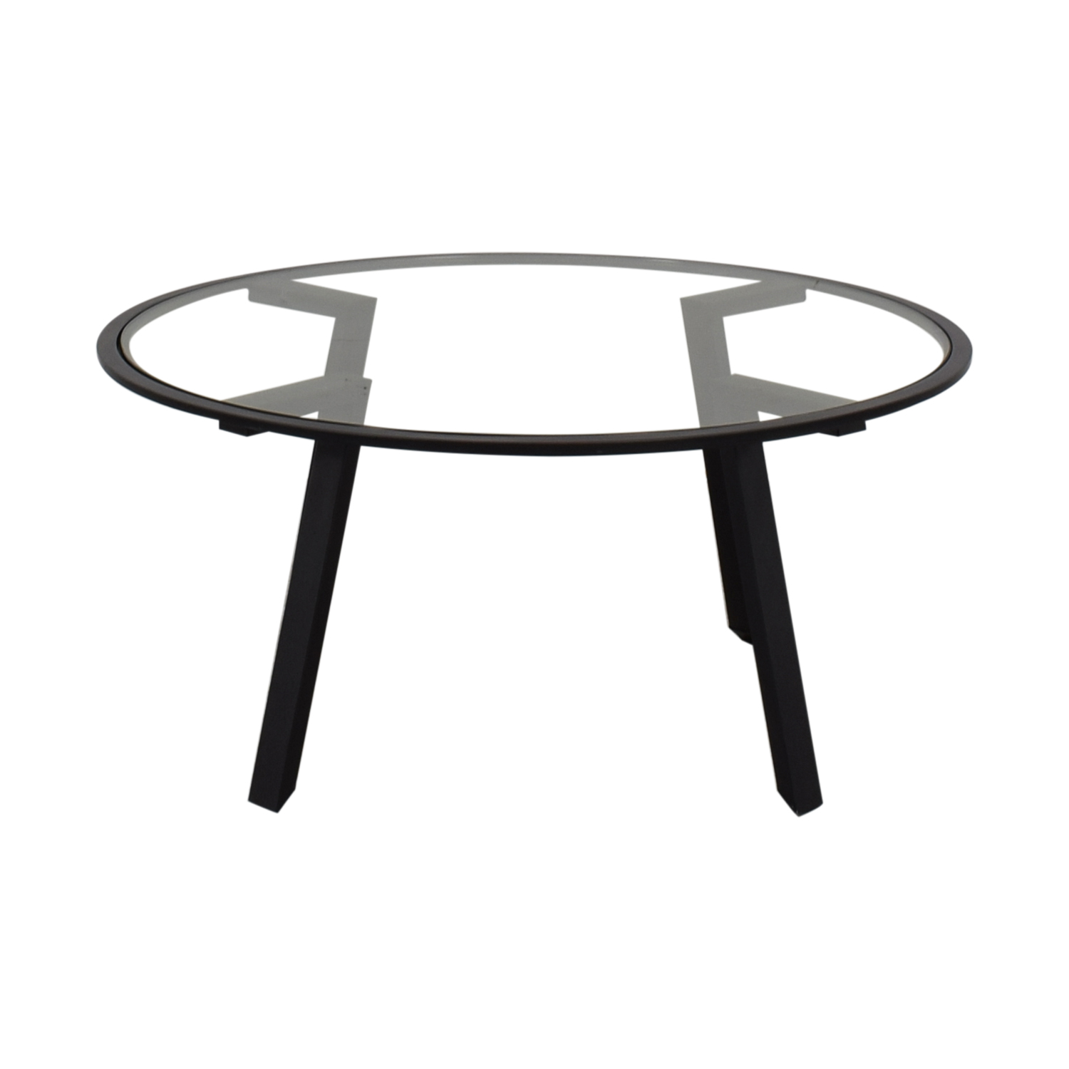 HomeGoods Round Glass Coffee Table / Sofas