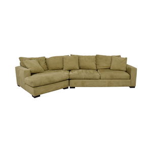 Room & Board Room & Board Beige Metro Sofa with Angled Chaise second hand