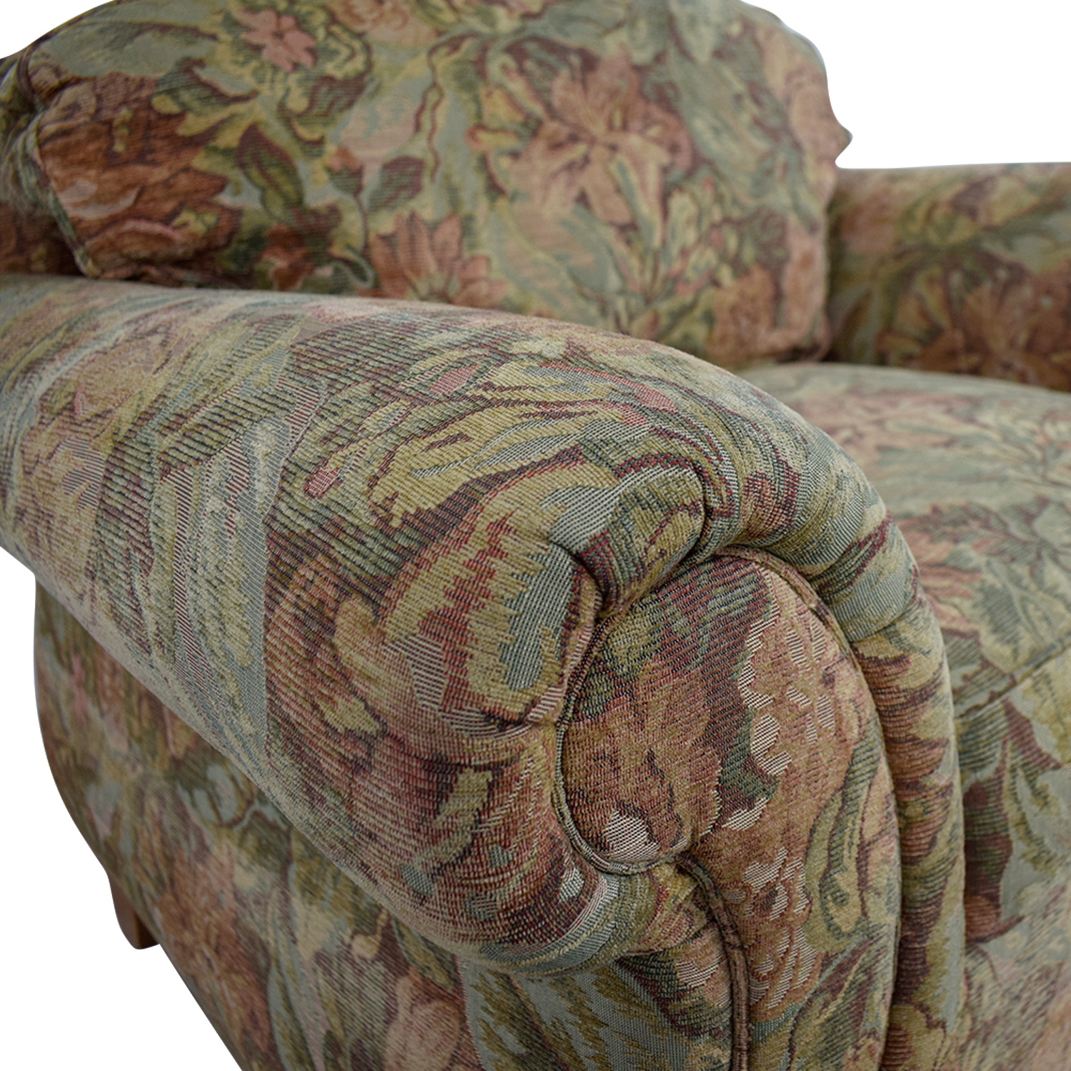 Ethan Allen Ethan Allen Flower Fabric Lounge Chair on sale