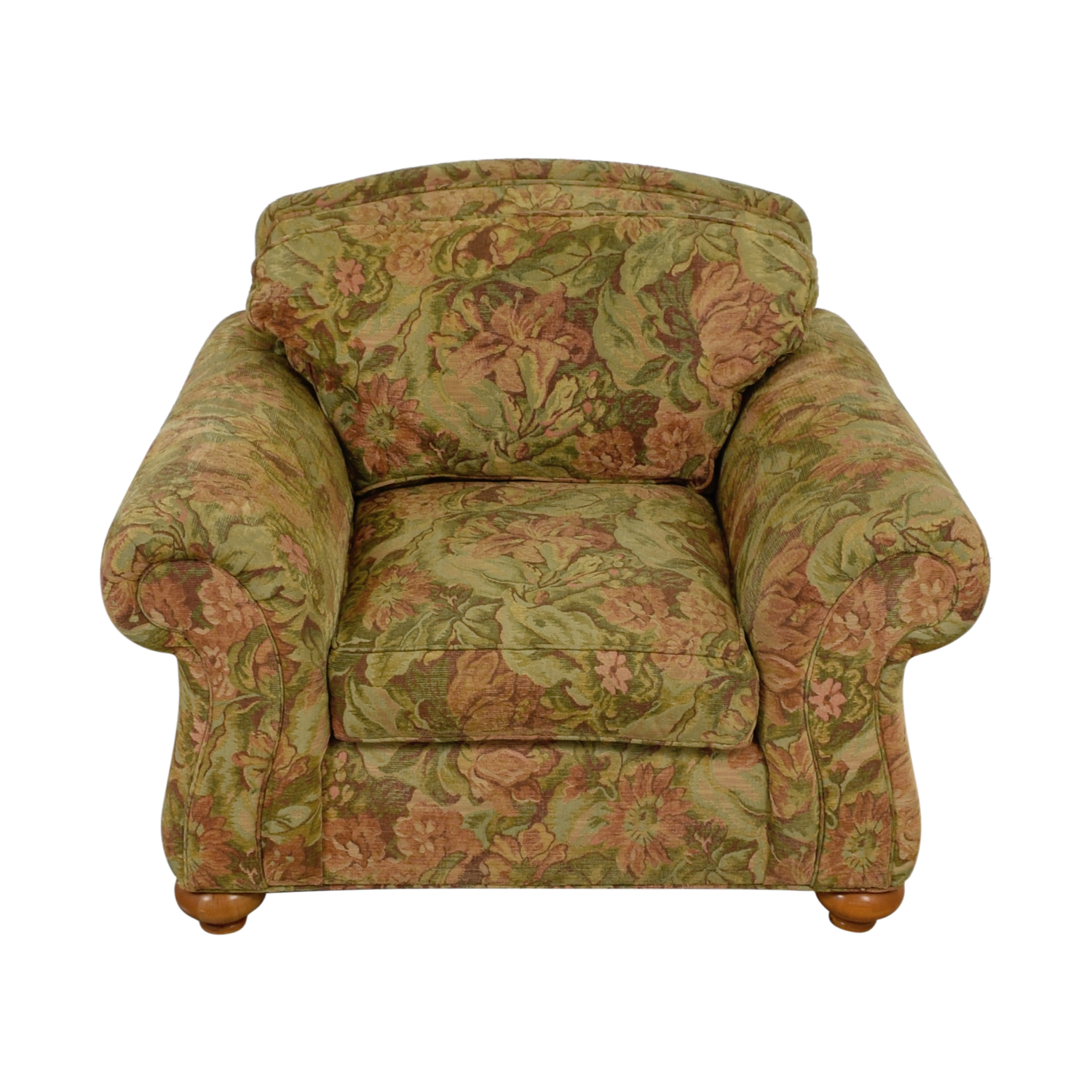 Ethan Allen Ethan Allen Flower Fabric Lounge Chair Accent Chairs