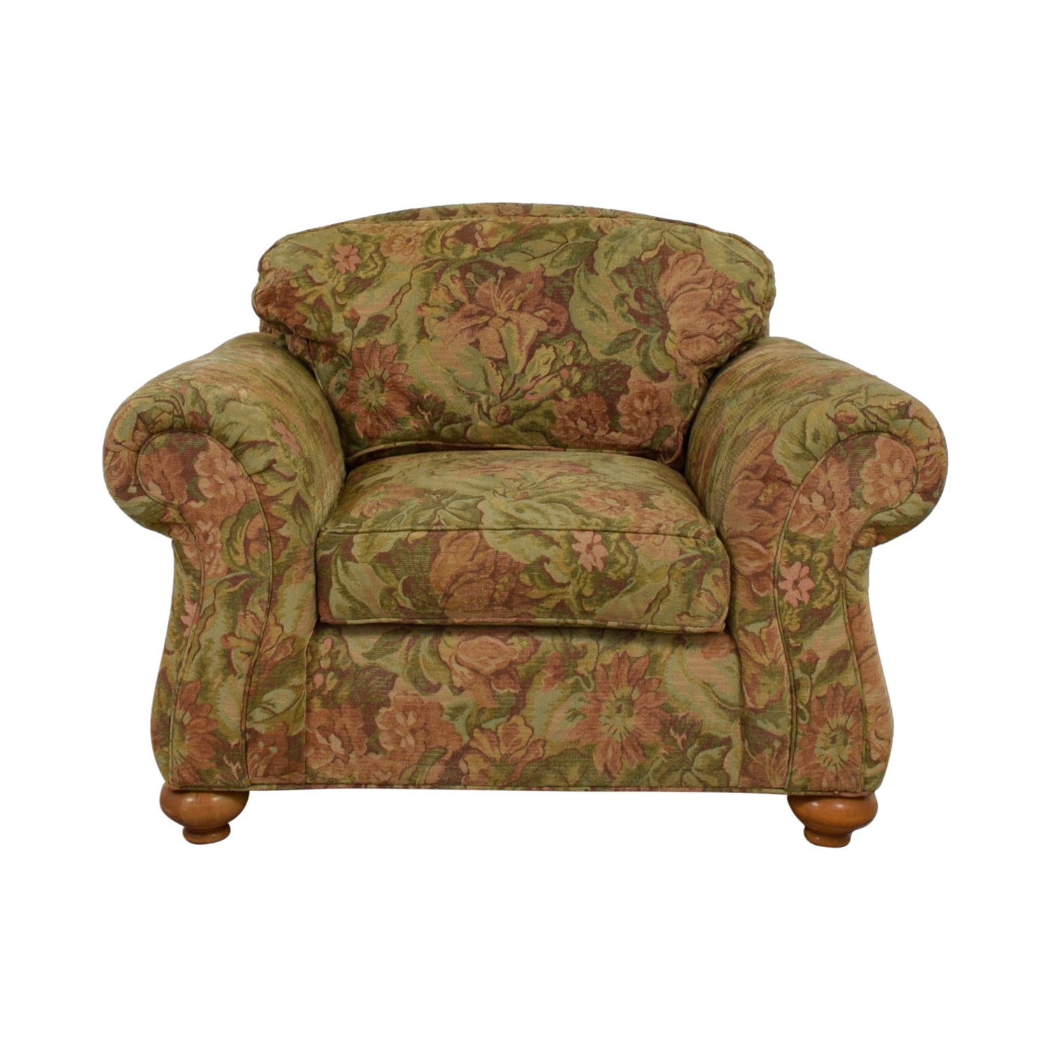 Ethan Allen Ethan Allen Flower Fabric Lounge Chair for sale