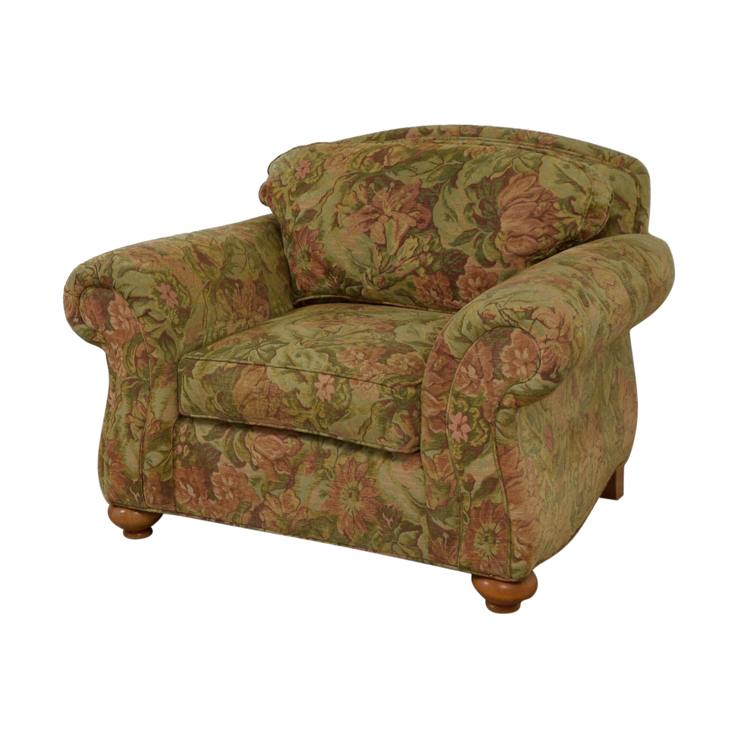 Ethan Allen Ethan Allen Flower Fabric Lounge Chair MULTI-COLOR