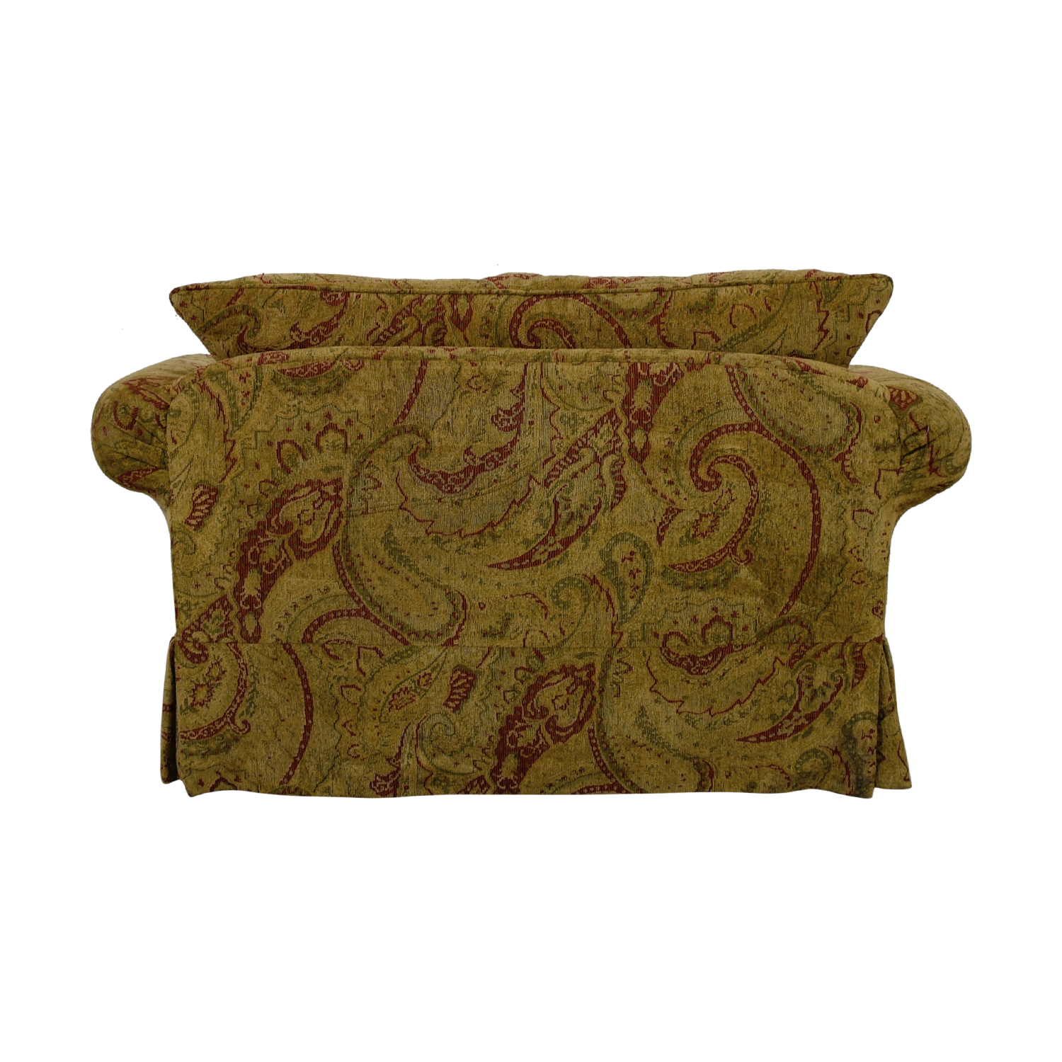 Bernhardt Bernhardt Gold and Red Love Seat coupon
