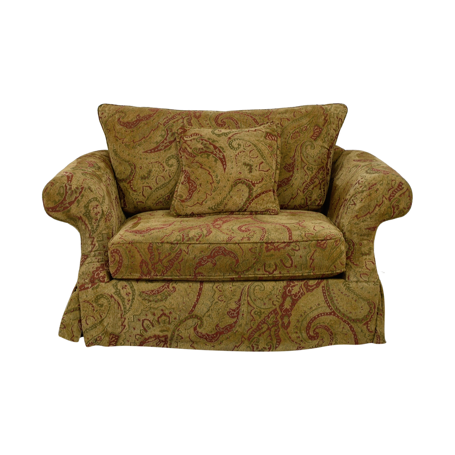 Bernhardt Bernhardt Gold and Red Love Seat