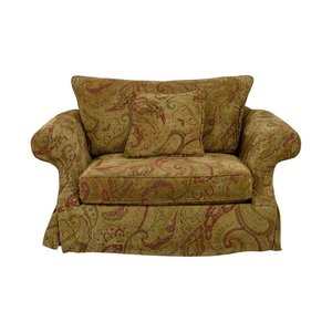 Bernhardt Bernhardt Gold and Red Love Seat for sale